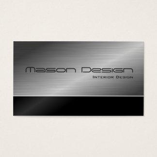 Schwarzes und moderner Entwurfs-StahlVisitenkarte Visitenkarte