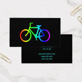 Schwarzes und Neonregenbogen-Fahrrad Visitenkarte