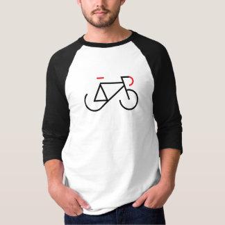 Schwarzes und rotes Fixie T-Shirt