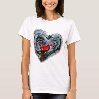 Schwarzes und rotes Herz T MACHEN nochmals T-Shirt
