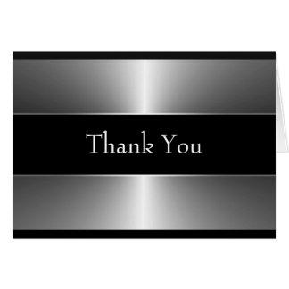 Schwarzes und Silber danken Ihnen Karten