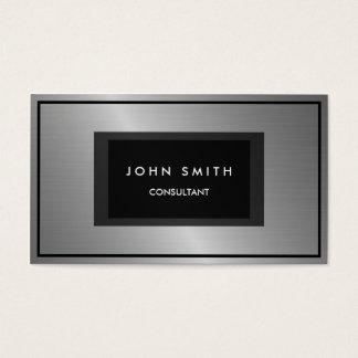 Schwarzes und Silber-metallischer Blick, Visitenkarte