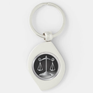 Schwarzes und Silber-Skalen des Gesetzes der Schlüsselanhänger