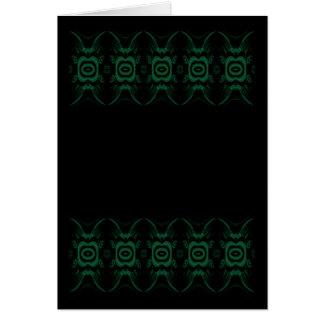 Schwarzes und Smaragdgrün-Blumen-Entwurf Karte
