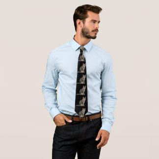 Schwarzes und Tabby-Katzen-Krawatte Bedruckte Krawatte