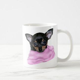 Schwarzes und TAN-Chihuahua-Welpe Kaffeetasse