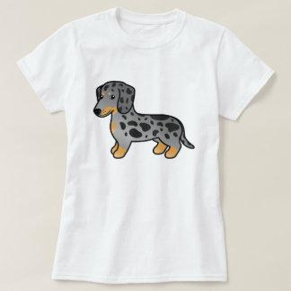 Schwarzes und TAN Dapple glatten T-Shirt
