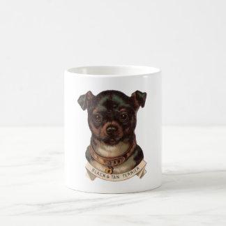 Schwarzes und TAN-Terrier-Kaffee-Tasse Kaffeetasse