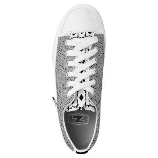 Schwarzes und Weiß! Niedrige Spitzen Niedrig-geschnittene Sneaker