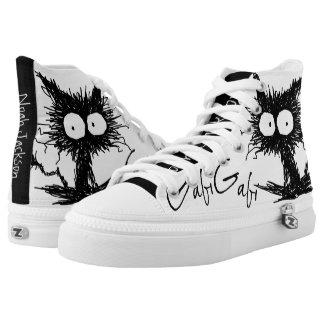 Schwarzes Unkempt Kätzchen GabiGabi Hoch-geschnittene Sneaker