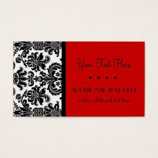 Schwarzes, Weiß u. Scharlachrot Visitenkarte