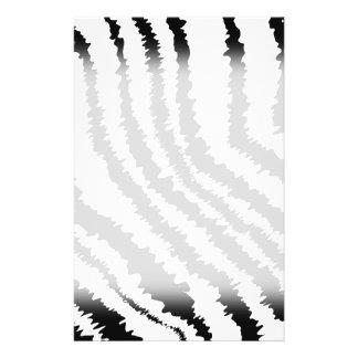 Schwarzes Zebra-Druck-Muster 14 X 21,6 Cm Flyer