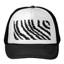 Schwarzes Zebra-Druck-Muster Kultcaps