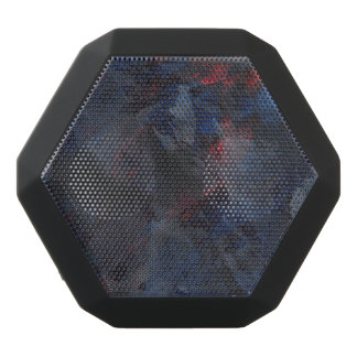 Schwarzweiss auf blauem und rotem Hintergrund Schwarze Bluetooth Lautsprecher