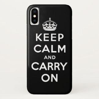 Schwarzweiss behalten Sie Ruhe und machen Sie iPhone X Hülle