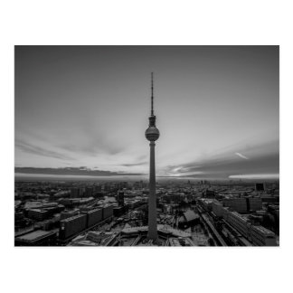 Schwarzweiss-Berlin am Winter Postkarte