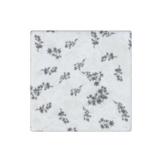 Schwarzweiss-Blätter Stein-Magnet