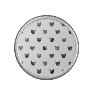 Schwarzweiss-Chic-niedliches Katzen-Muster Lautspercher