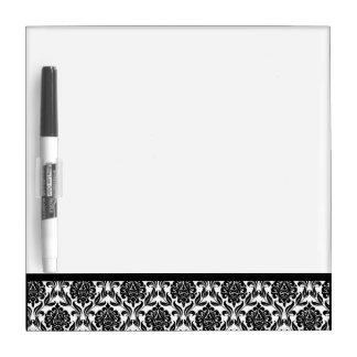 Schwarzweiss-Damast-Muster Memo Board