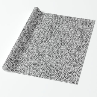 Schwarzweiss-Diamant-Kreis-Packpapier Geschenkpapierrolle
