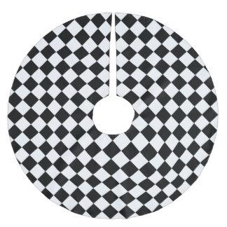 Schwarzweiss-Diamant-Muster durch Shirley Taylor Polyester Weihnachtsbaumdecke