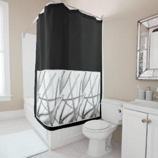 Schwarzweiss-Duschvorhang Duschvorhang
