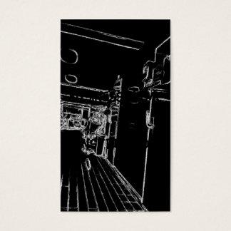 Schwarzweiss ein Raum Visitenkarte
