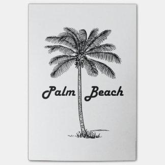 Schwarzweiss-Entwurf des Palm Beach Florida u. der Post-it Klebezettel