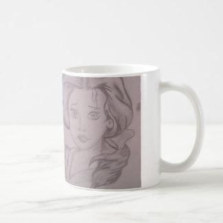 Schwarzweiss-Entwurf Kaffeetasse