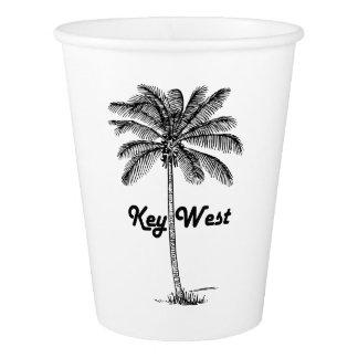 Schwarzweiss-Entwurf Key Wests Florida u. der Pappbecher