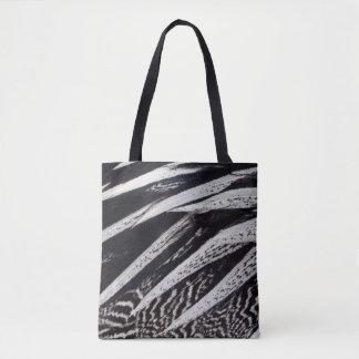 Schwarzweiss-Feder abstrakt Tasche