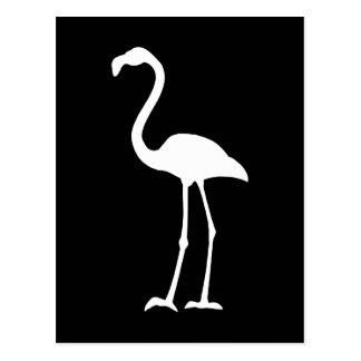 Schwarzweiss-Flamingo Postkarte