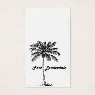 Schwarzweiss-Fort Lauderdale- u. Palmenentwurf Visitenkarte