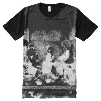 Schwarzweiss-Foto T-Shirt Mit Komplett Bedruckbarer Vorderseite