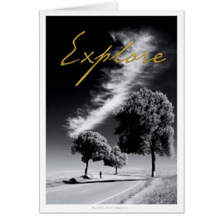 Schwarzweiss-Fotokarte Grußkarte