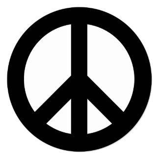 Schwarzweiss-Friedenszeichen Karte