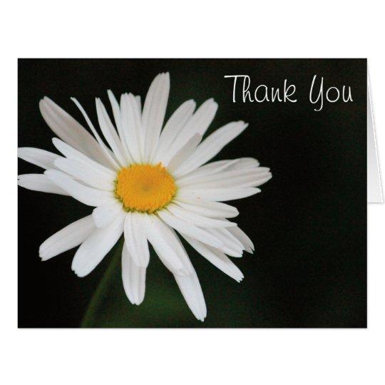 Schwarzweiss-Gänseblümchen danken Ihnen zu Karte