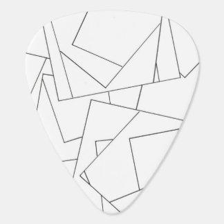 Schwarzweiss-geometrisches - abstraktes plektrum
