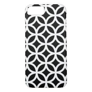 Schwarzweiss-geometrisches iPhone 7 Hülle