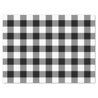 Schwarzweiss-Gingham-Muster-Seidenpapier Seidenpapier