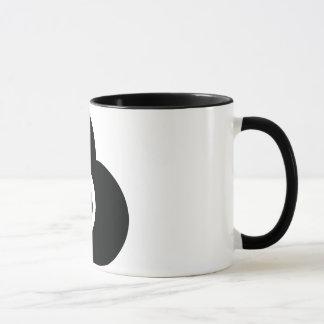 Schwarzweiss-Herz-Tasse Tasse