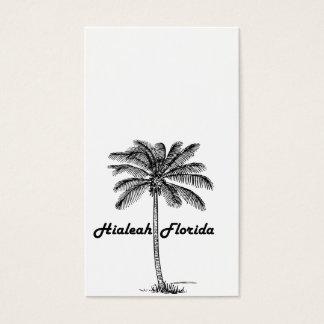 Schwarzweiss-Hialeah u. Palmenentwurf Visitenkarte