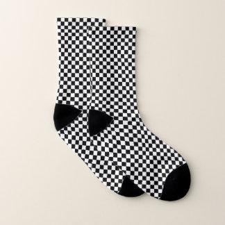 Schwarzweiss-kariertes Socken