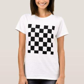 Schwarzweiss-kariertes T-Shirt
