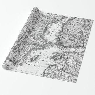 Schwarzweiss-Karte der Geschenkpapier
