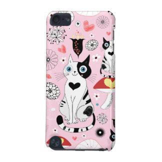 Schwarzweiss-Katzen-Muster für Katzen-Liebhaber iPod Touch 5G Hülle