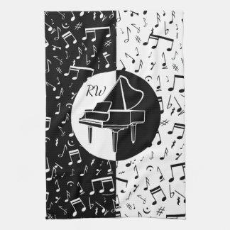 Schwarzweiss-Klavierentwurf Handtücher
