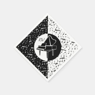 Schwarzweiss-Klavierentwurf Serviette