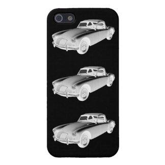 Schwarzweiss-konvertierbares Sport-Auto MGs iPhone 5 Schutzhülle