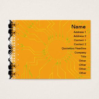 Schwarzweiss-Kräuselungen groß Visitenkarte
